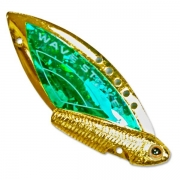 Купить Блесна-цикада Kosadaka Wave Striker 7г Gold/Green