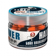 Купить Бойлы плавающие двухцветные Sonik Baits Fluo Pop-Ups Liver-Halibut(Печень-Палтус) 14мм 90мл