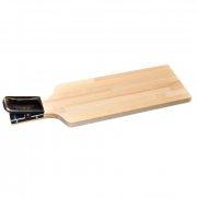 Купить Доска разделочная деревянная с нержавеющей прищепкой (500x145x20/60 см)