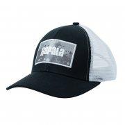 Купить Кепка Rapala черная c сеткой Grey Splash logo