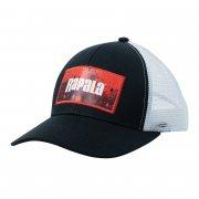 Купить Кепка Rapala черная c сеткой Red Splash logo