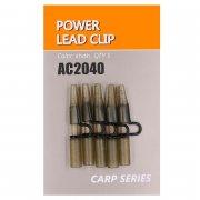 Купить Клипса безопасная Orange AC2040 Power lead clip (пластик,5шт)