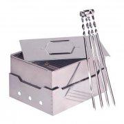 Купить Коптильня-гриль из нержавеющей стали в сумке 380*200*120