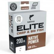 Купить Леска монофильная Salmo Elite Carp & Big Fish 200м (0,25мм)
