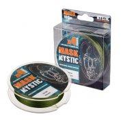 Купить Леска плетеная Akkoi Mask Mystic X4 100м Dark-green (0,10мм)
