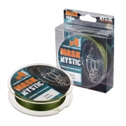 Купить Леска плетеная Akkoi Mask Mystic X4 100м Dark-green (0,18мм)