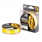 Купить Леска плетеная Akkoi Mask Plexus X4 125м Yellow (0,08мм)