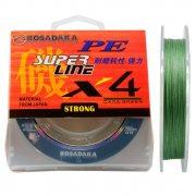 Купить Леска плетеная Kosadaka Super Line PE X4 150м (0,20мм) Dark green