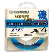 Купить Леска плетеная Kosadaka Super Line PE X4 Ultralight Pro 110м (0,05мм) Light green