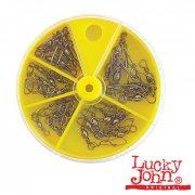 Купить Набор вертлюгов с застежками Lucky John (30 шт.)