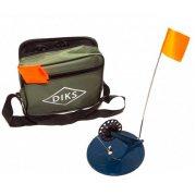 Купить Набор зимних жерлиц оснащенных ДИКС-2 (d190 d78) в узкой сумке (6 шт)