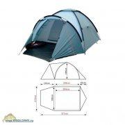 Купить Палатка 3-х местная Campus Banff 350
