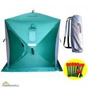 Купить Палатка зимняя Helios куб 3-х местная (180x180x200 см, зелено-серая)