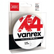Купить Плетеная леска Lucky John Vanrex X4 Braid 125м 0,08 (Fluo Orange)