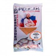 Купить Прикормка Pelican «Карась Чеснок» 1кг
