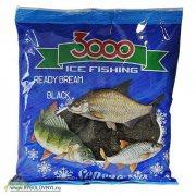 Купить Прикормка зимняя готовая Sensas 3000 BREAM BLACK 0.5кг