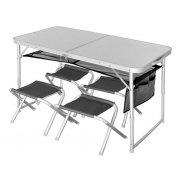 Купить Стол складной для рыбалки Norfin Runn NF алюминиевый 120x60 с 4 стульями