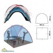 Купить Тент-шатер Canadian Camper Space One (цвет Royal)