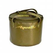 Купить Ведро Aquatic В-05 для замешивания корма (герметичное, с крышкой) Хаки