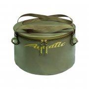 Купить Ведро Aquatic В-06 для замешивания корма (герметичное, с крышкой) Хаки