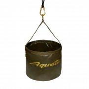 Купить Ведро Aquatic В-08 для замешивания корма (Герметичное, со шнуром на карабине) Хаки