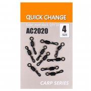 Купить Вертлюги быстросъемные Orange Carp AC2020 Quick change (sz4, 10шт)