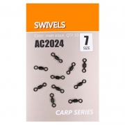 Купить Вертлюги быстросъемные Orange Carp AC2024 Swivels (sz7, 10шт)