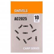Купить Вертлюги быстросъемные Orange Carp AC2025 Swivels (sz10, 10шт)
