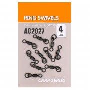 Купить Вертлюги быстросъемные Orange Carp AC2027 Ring swivels (sz4, 10шт)