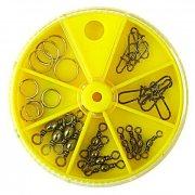 Купить Вертлюги с застежками и заводными кольцами Lucky John набор