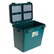 Купить Ящик-М зимний Helios односекционный 19л зеленый