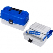 Купить Ящик рыболовный пластиковый Salmo 2х-уровневый 39.5х19.5х19.5 см