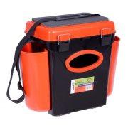Купить Ящик рыболовный зимний Helios FishBox односекционный 10л оранжевый