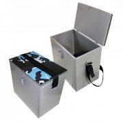 Купить Ящик рыболовный зимний окрашенный сталь (300x190х290 мм)