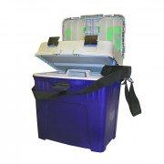Купить Ящик рыболовный зимний Salmo 2-х ярусный пластиковый с подкладкой (440x310x430 мм)
