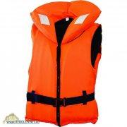 Купить Жилет спасательный с воротником на молнии Norfin 100N 40-60кг/оранж.