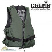 Купить Жилет спасательный с воротником на молнии Norfin 50NG 30-50кг/зел.
