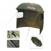 Купить Зонт рыболовный с тентом Traper (250 см)